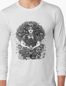 Divine Mother Gea Tree / BW Long Sleeve T-Shirt