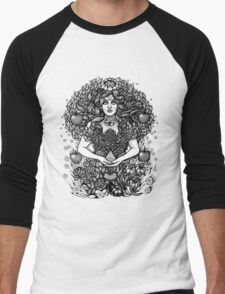 Divine Mother Gea Tree / BW Men's Baseball ¾ T-Shirt