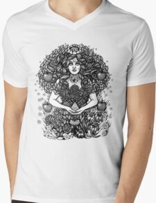Divine Mother Gea Tree / BW Mens V-Neck T-Shirt