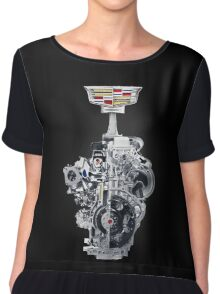 cadillac engine power coupe motor with new logo Chiffon Top
