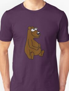 great funny sitting thick grizzly bear comic cartoon Unisex T-Shirt