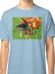 Dance Of Swallowtail and Tiger Lily Classic T-Shirt