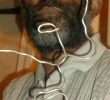 Male Head 1 -(270516)- Wire Sculpture Sticker