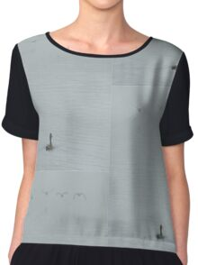 Dagnabbit! They are leaving without me.  Women's Chiffon Top