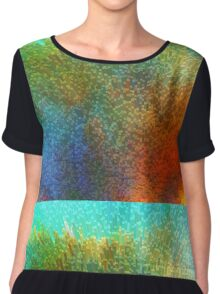 Color Infinity - Abstract Art By Sharon Cummings Chiffon Top
