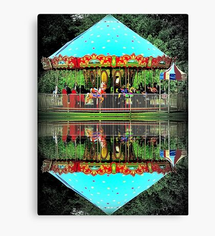 Carousel Reflections Canvas Print