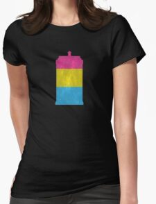 Pansexual Pride Police Box Womens Fitted T-Shirt
