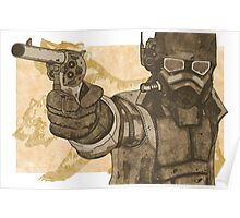 Fallout: New Vegas - Frontier Justice (Brown/Orange) Poster