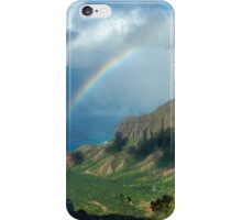 Rainbow at Kalalau Valley iPhone Case/Skin