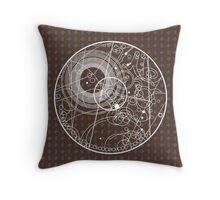Ten Tie Gallicush - Brown (Circular) Throw Pillow