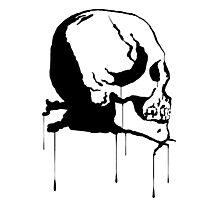 Splatter Skull 2 (black) Photographic Print