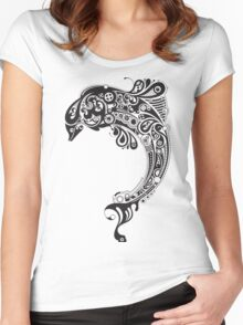 Tribal Fish Women's Fitted Scoop T-Shirt