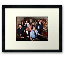 Parks and Rec Cast Framed Print