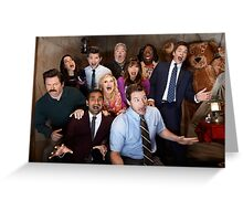 Parks and Rec Cast Greeting Card