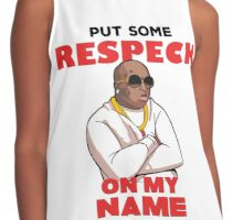 "Birdman ""Put Some Respeck on My Name Contrast Tank"