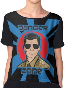 You Better Call Kenny Loggins - Military Uniform Version Chiffon Top