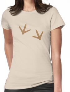 Turkey feet Thanksgiving turkeys footprints Womens Fitted T-Shirt