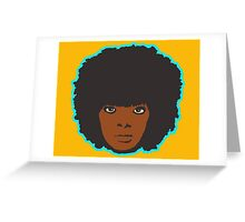 Retro Afro Greeting Card