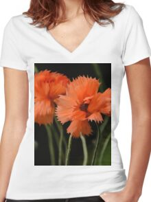 Poppy delights Women's Fitted V-Neck T-Shirt