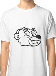 grin smile comic cartoon head face sweet little cute polar teddy bear funny Classic T-Shirt