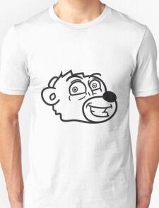 grin smile comic cartoon head face sweet little cute polar teddy bear funny Unisex T-Shirt