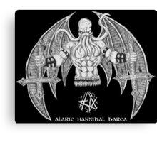 Death Metal Cthulhu (Raw Version) Canvas Print