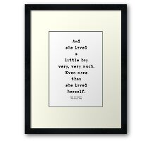 And she loved a little boy Framed Print