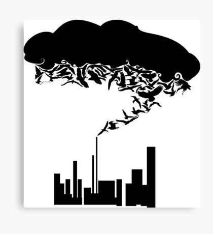 fog of our sky Canvas Print