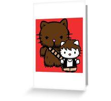 Hello Kitty Fuzzball Greeting Card