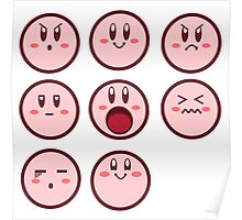 Kirby Faces Poster