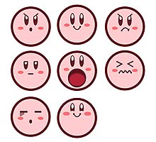 Kirby Faces Photographic Print