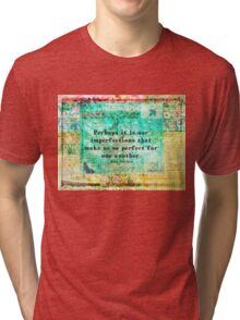Jane Austen witty LOVE quote  Tri-blend T-Shirt