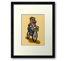 PUN INTENDED - HIPSTERPOTAMUS - HIPSTERS PARODY - FUNNY DESIGN Framed Print