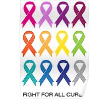 Cancer Ribbons Poster