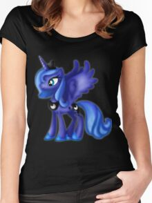 My Little Pony Friendship Is Magic Princess Luna Women's Fitted Scoop T-Shirt
