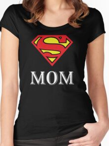 Super Mom - Mom father - mom birthday gift - mother's day - gift for mom - gift for mother Women's Fitted Scoop T-Shirt