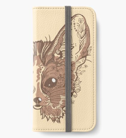 Fennec fox with pretty flowers iPhone Wallet/Case/Skin