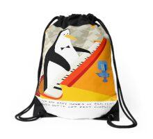 Eddie Penguin Drawstring Bag