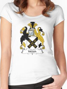 Welsh Coat of Arms / Welsh Family Crest Women's Fitted Scoop T-Shirt