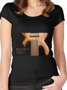 Music is a Moral Law Women's Fitted Scoop T-Shirt