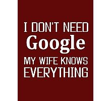 wife, Google, Internet, Smart Photographic Print