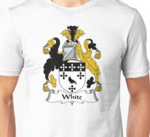 White Coat of Arms / White Family Crest Unisex T-Shirt