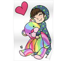 Snuggle Bear Poster