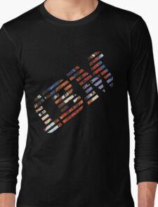 Vaporwave IBM/Neon Genesis Evangelion Mashup Long Sleeve T-Shirt