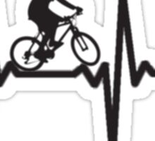 ride on Bicycle, Hearth beat Sticker
