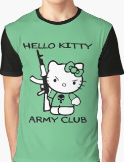 Hello Kitty Army Club Graphic T-Shirt