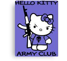Hello Kitty Army Club Canvas Print
