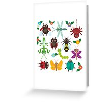 Insects on green Greeting Card