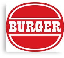Classic Burger Logo Canvas Print