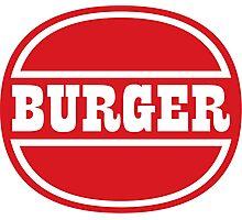 Classic Burger Logo Photographic Print